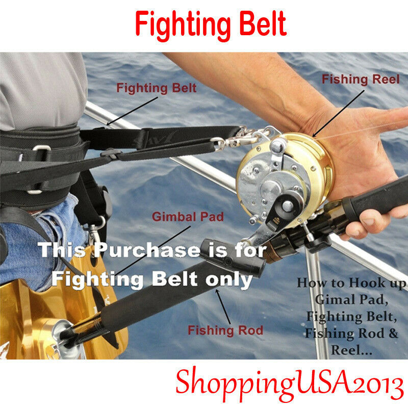 Jaws Ultimate Fighting Belt reel Harness for Big game Jigging Fishing Rod SXXL