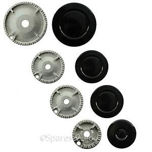 STOVES-Oven-Cooker-Gas-Hob-Burner-amp-Flame-Cap-Crown-Black-Small-Medium-Large