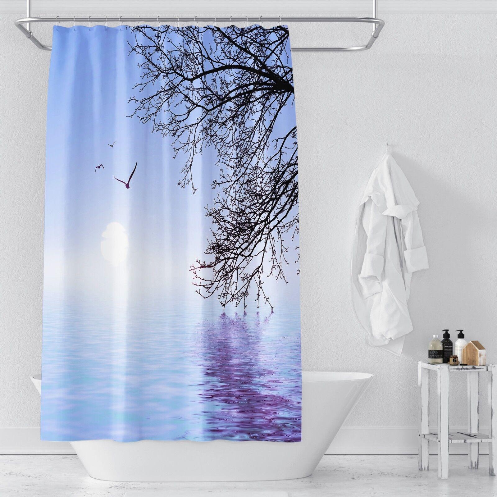 3D Baum See 34 Duschvorhang Wasserdicht Faser Bad Daheim Windows Toilette DE   Grüne, neue Technologie    eine breite Palette von Produkten