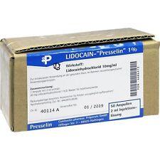 LIDOCAIN Presselin 1% Inj.-Lsg.   50x2 ml   PZN6686412