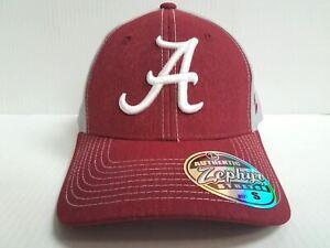 c4684f7e6fff Alabama Crimson Tide Cap Zephyr Stretch Fit Fitted Heathered Clash ...