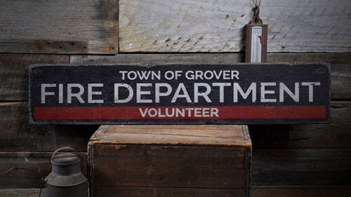 Fire Department Decor Distressed Wooden Sign ENS1001974 Fire Sign