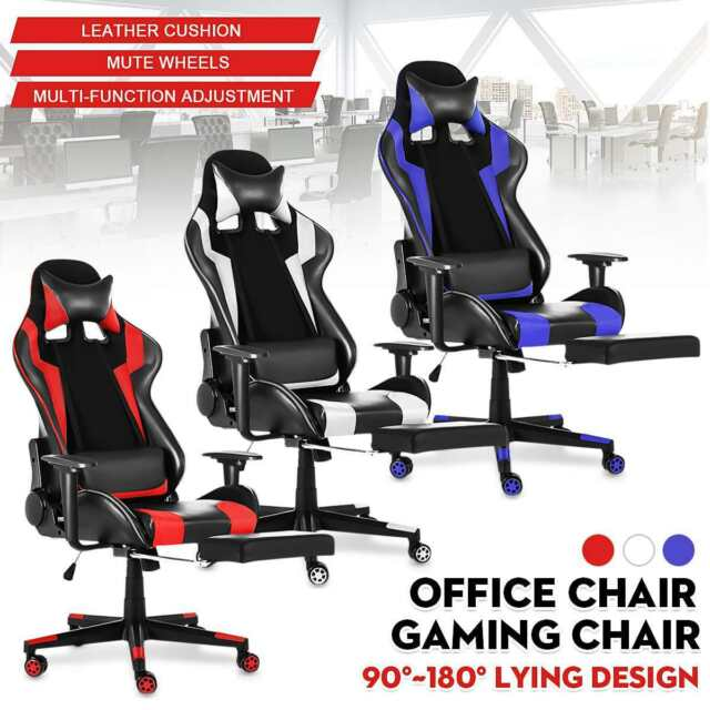 Leather Office Gaming Chair Racing Chair WCG Ergonomic Gaming Computer