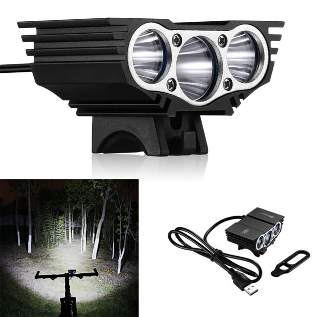 Solarstorm 15000LM 3x XM-L T6 LED MTB Bicycle Light Bike Front Headlight Lamp