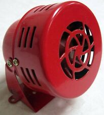 RED 1950's Style 12v Mini Motor Driven Air Raid Siren Horn Car Truck Street Rod