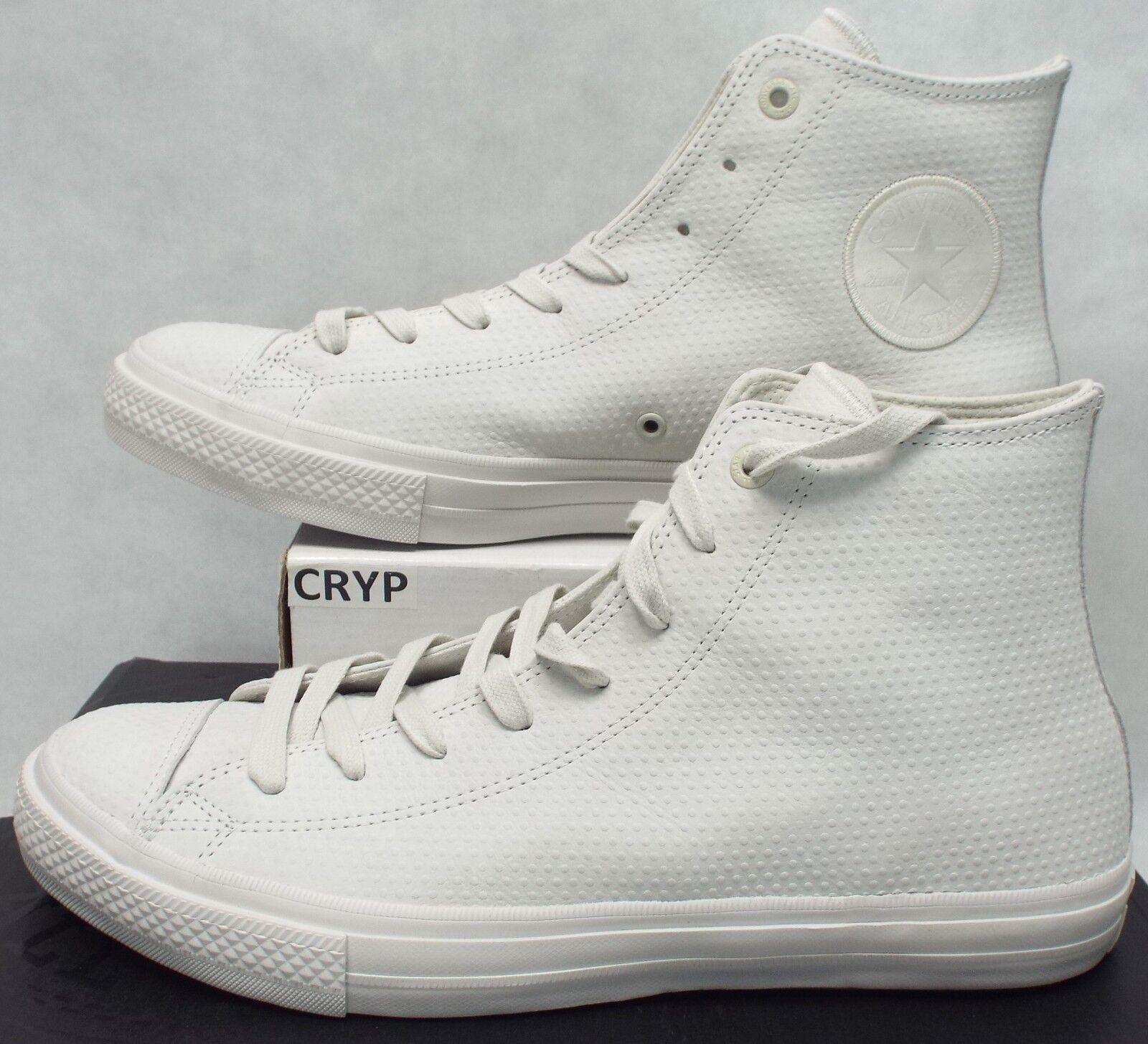 Nuevo Mens 11 Ctas 2 Hi Chuck Taylor All Star Cuero Buff Goma Zapatos 154763 C