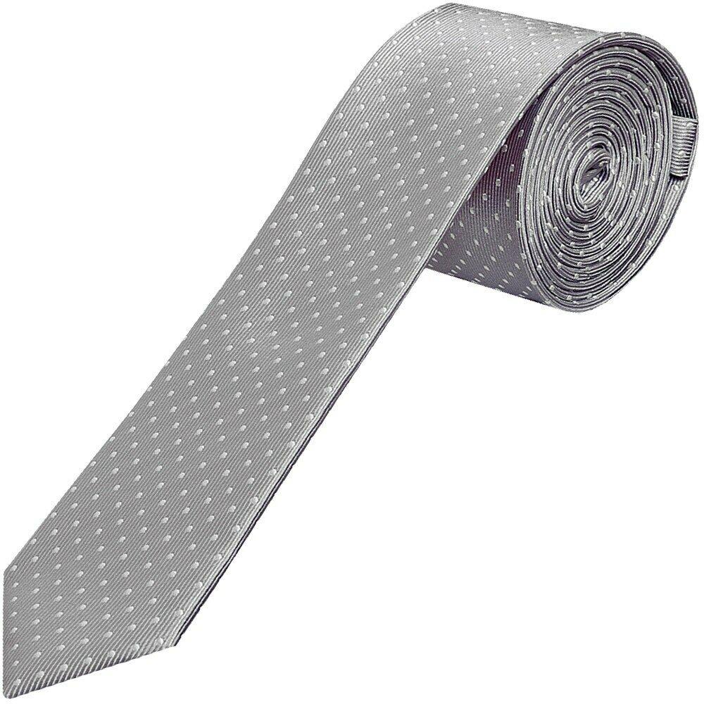 Charitable Fait Main Argent Et Blanc Polka Dot Skinny Garçons Cravate Enfants Tie Kids Tie Beau Lustre