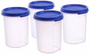 Set-of-4-Tupperware-Round-Air-tight-Modular-Mate-MM-Snack-Spice-Container-440-ml