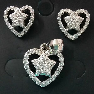 925-STERLING-SILVER-CZ-DIAMOND-EARINGS-PENDANT-SET-CZ-DESIGNER-WOMEN-JEWELLERY