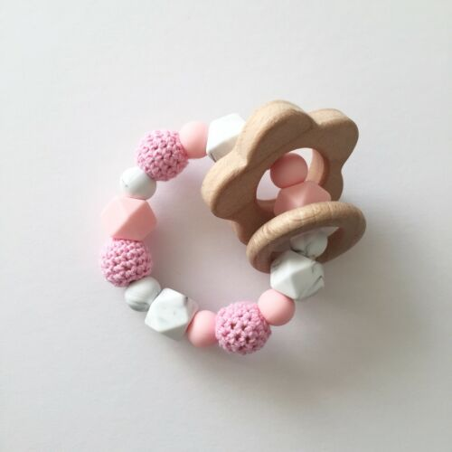 Soother Clip Pacifier Clip Personalised Dummy Clip Silicone Clip Pink