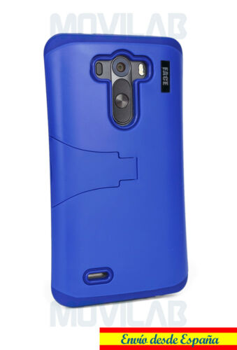 G3 carcasa bumper con soporte Azul oscuro Funda LG D855