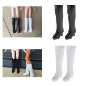 2 Pair 1//6 BJD Dolls Cute Shoes Knee Boots for Momoko for Blythe for Licca
