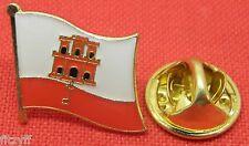 Gibraltar Flag Lapel Hat Cap Tie Pin Badge Gibraltarians Gift Souvenir