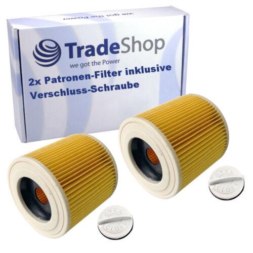 2x Patronen-Filter für Dewalt D27901 D27902 D27902M Hoover 141 inkl Verschluss