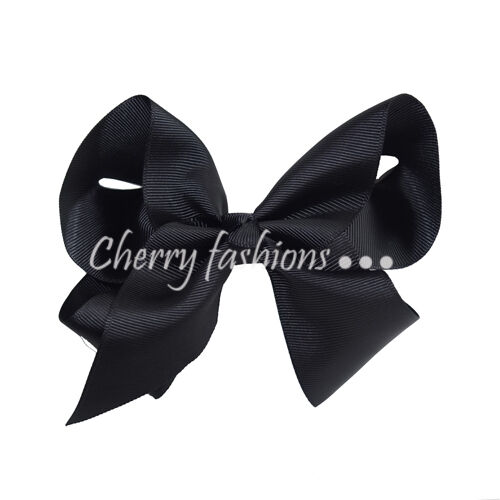 "6/"" Large Bow Hair Alligator inch knot Clips Girls Ribbon Bows Kids Accessories"