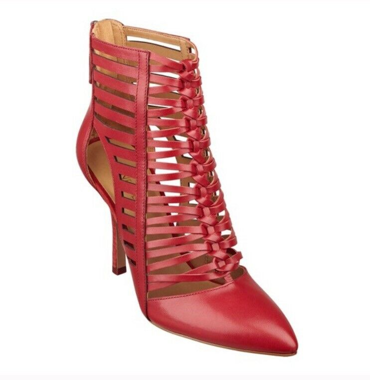 Nine West Bessy Caged Ankle Booties