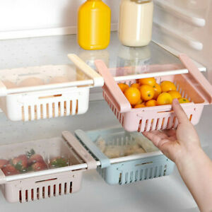 Adjustable-Refrigerator-Storage-Box-Holder-Food-Organizer-Shelf-Drawer-Proper