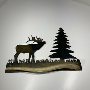 Moose Towel or Coat Hook Rustic Lodge Hunting Cabin Metal Art Bath Wall Decor