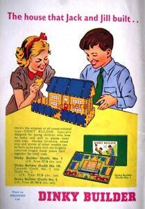DINKY TOYS Builder Outfits No.1. 1a   2 Print AD - Original 1958 Toy ... 60550e6e532