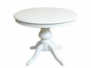 Table Laquee Blanc Ivoire Table Ronde 100 Cm Avec Allonge