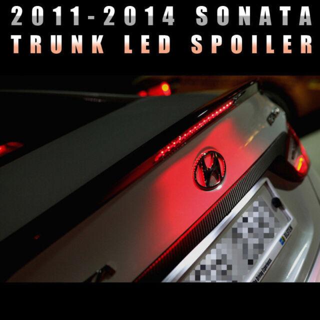 Trunk Rear LED Wing Lip Spoiler Black Painted For HYUNDAI 2011-2014 Sonata YF