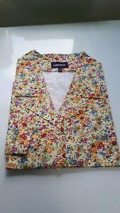 Women/'s Size 16 Liberty Green Ditsy Floral Print Shirt By Saffron Finch