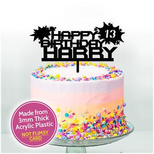Boys-Birthday-Cake-Topper-Pick-Acrylic-PERSONALISED-Birthday-Topper-ANY-NAME