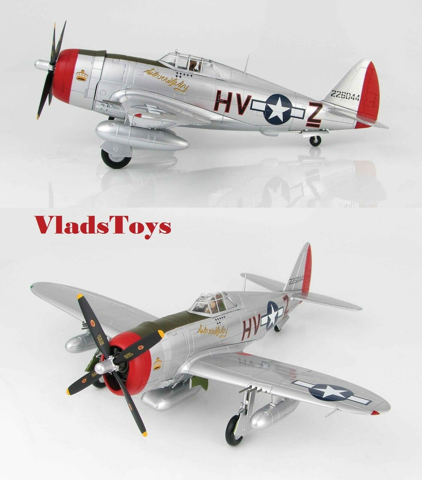 Hobby Master 1:48 P-47D Thunderbolt 56th Fg. 61st FS Argento Argento Argento Lady Rafboxted 559528