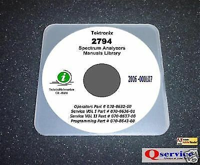 Tektronix TEK 2794 COMPLETE MANUALS LIBRARY With Complete A3 Diagrams