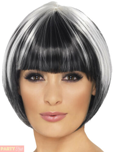 Ladies Quirky Bob Wig Womens Witch Halloween Fancy Dress Costume Accessory