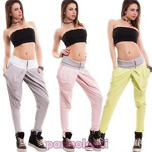 Pantaloni-donna-tuta-harem-portafoglio-cavallo-basso-turca-sarouel-nuovi-CC-1399