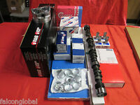 Chevy 350 5.7l Master Engine Kit Flat Top Pistons+torque/rv Cam/camshaft 1969-79