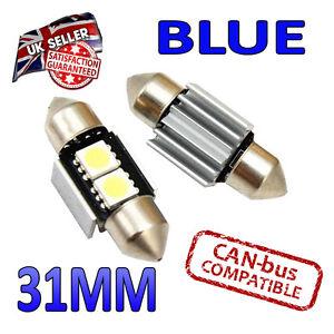 2x Feston C3W 31 mm 269 Ultra Bright 2 SMD DEL 10x31 SV8 5 Intérieur Ampoules Honda