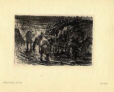 Walter Miehe 2.g. - r. - r. en la lluvia guerra pintor * era artist * 1.wk