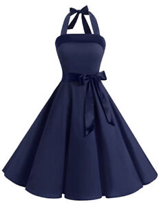 Ladies-Rockabilly-Dress-Petticoat-Party-Dress-Cocktail-Dress-NEW-Size-38-50-k3