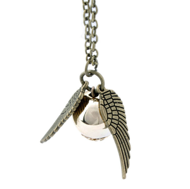 2014 New Occident Retro Fashion Harry Potter Snitch Gold Charm Jewelry Necklace