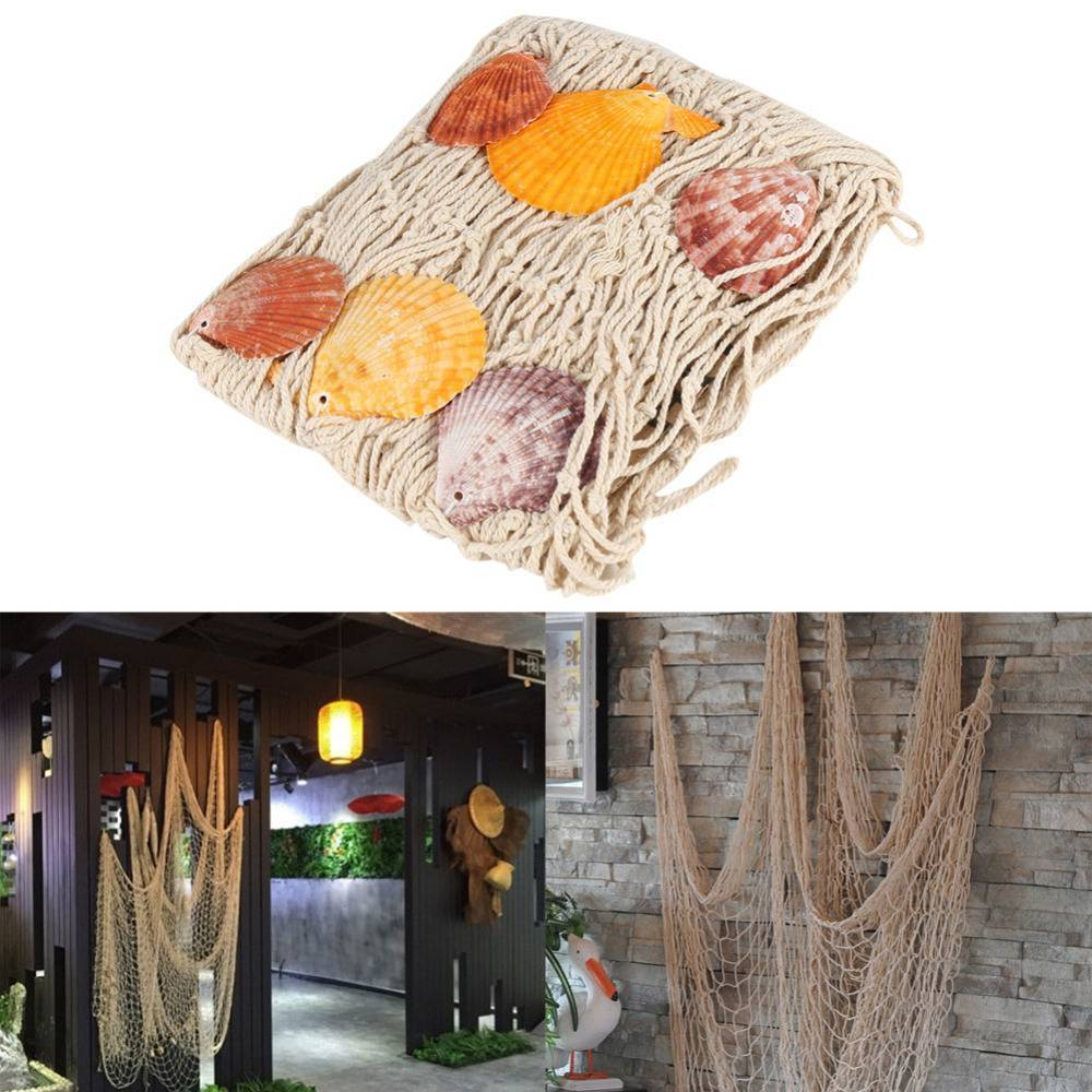 Fish Net Mediterranean Style Beach Home Photography Props Party Wall Tip 2