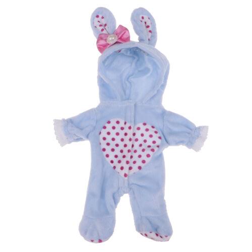 Puppe Strampler Overall Kleid Mantel Puppenkleidung Puppenkleider für 25cm