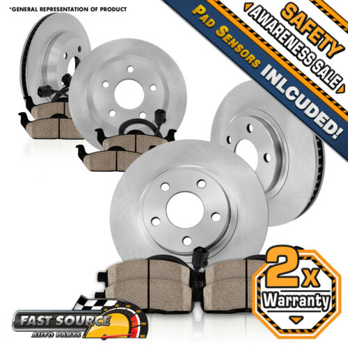 Front Rear Rotors /& Ceramic Pads For 2004 2005 2006 2007 2008-2011 BMW X3 E83