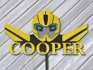 Bumblebee Transformer Custom Cake Topper | eBay
