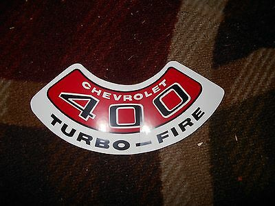 CHEVROLET 305 TURBO-FIRE TURBOFIRE AIR CLEANER TOP LID DECAL STICKER NEW