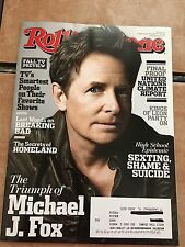 Rolling Stone Magazine Michael J Fox  September 26, 2013 Back Issue