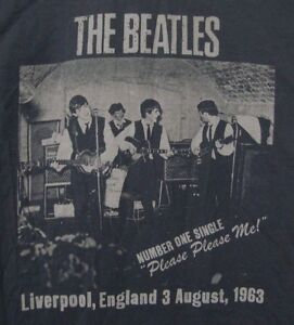 newest 74b9b 271db Details about The Beatles Liverpool 1963 Authentic T-shirt Men's Small Gray  John Paul George