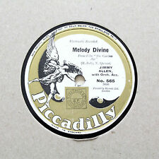 """JIMMY ALLEN """"Melody Divine / Mother's Smile"""" PICCADILLY 565 [78 RPM]"""