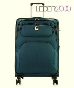 Titan-Koffer-Nonstop-4-Rollen-Trolley-M-68-cm-Reise-Petrol-Blau-Gruen