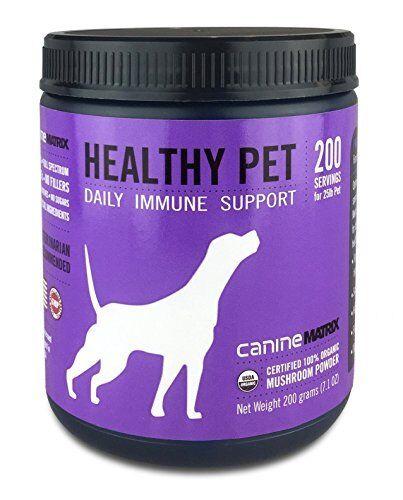 Canine Matrix Organic Mushroom Supplement for Dogs Healthy Pet 200 grams