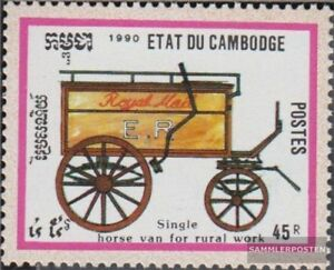 Never Hinged 1990 Pferdekutschen complete Issue Kind-Hearted Cambodia 1104 Unmounted Mint