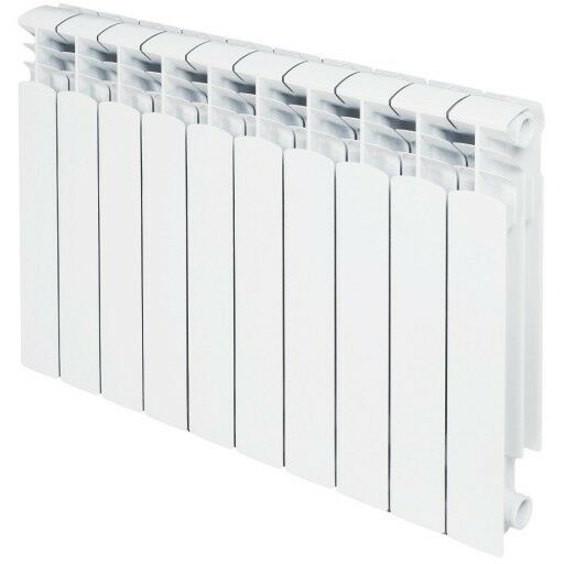 Central Individuel Aluminium chauffage radiateur 10 Section Kit d'insTailletion 5000 British Thermal Unit Blanc