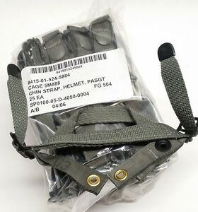25-PASGT-Helmet-Retention-Chin-Strap-Foliage-Green-FG-504-NSN-NEW-ACU