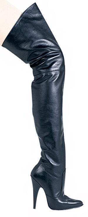 Ss4u Cuero Negro muslo botas 4  Tacones interior con con con cremallera tamaño 6 Ellie blaze4  70% de descuento